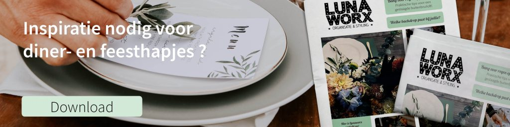 inspratie hapjes diner trouwkrant lunaworx