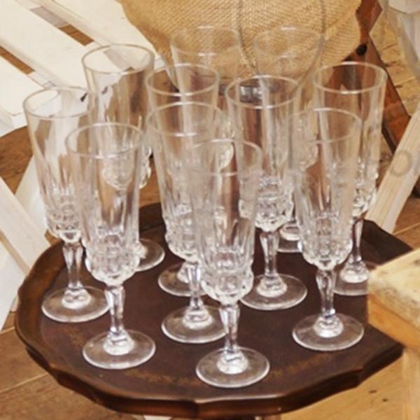 vintage champagneglas