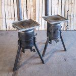 vuurpot met grillplaat