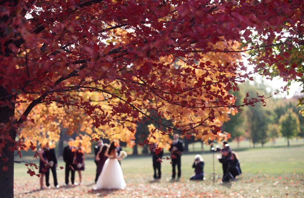 herfst bruiloft foto's