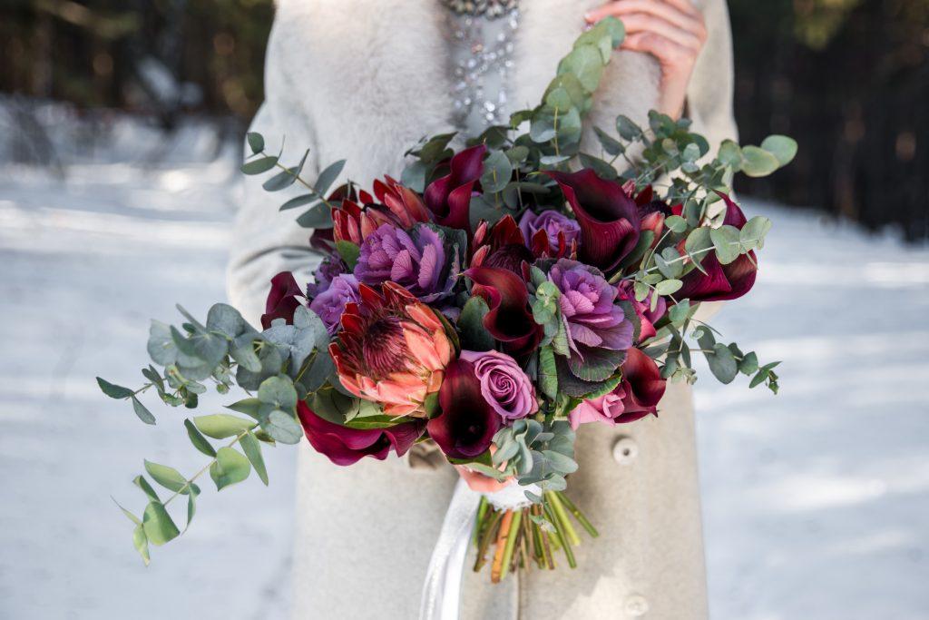 winterbruiloft trouwboeket